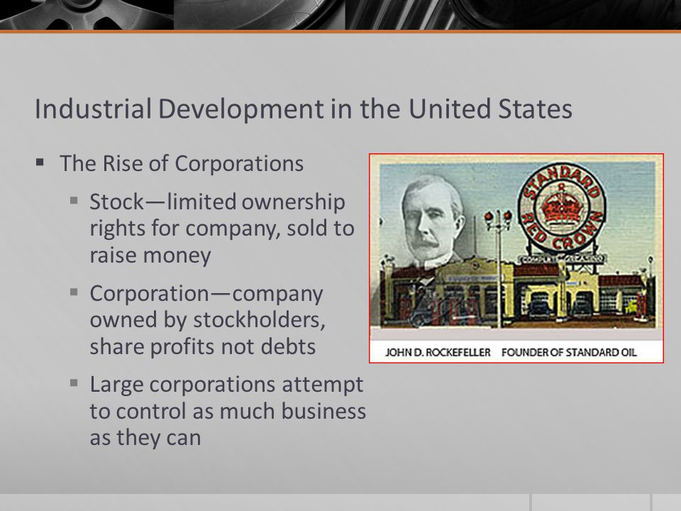 Industrial Development in the United States