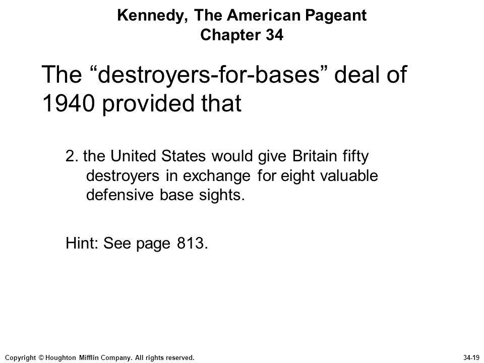 Kennedy, The American Pageant Chapter 34