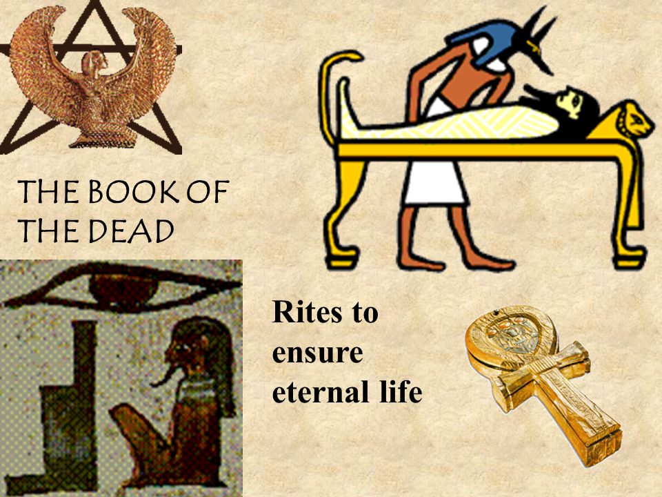 THE BOOK OF THE DEAD Rites to ensure eternal life