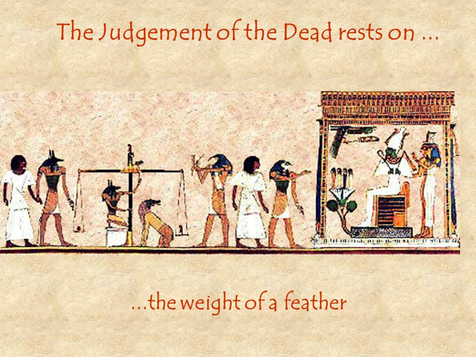 The Judgement of the Dead rests on ...