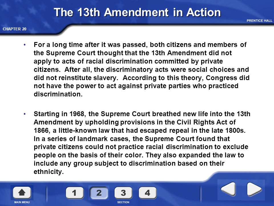 The 13th Amendment in Action