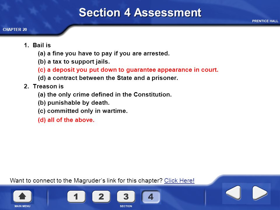 Section 4 Assessment 1. Bail is