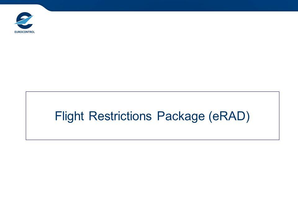 Flight Restrictions Package (eRAD)