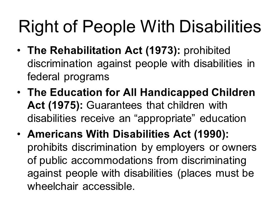 Right of People With Disabilities