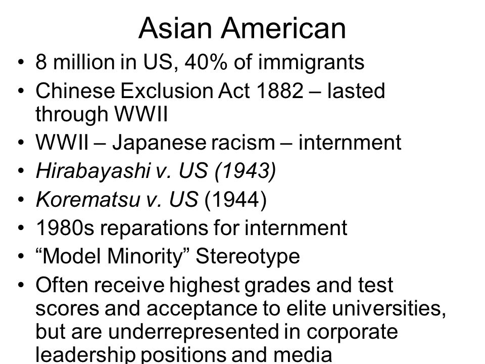 Asian American 8 million in US, 40% of immigrants