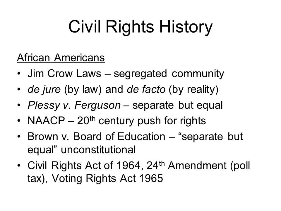 Civil Rights History African Americans