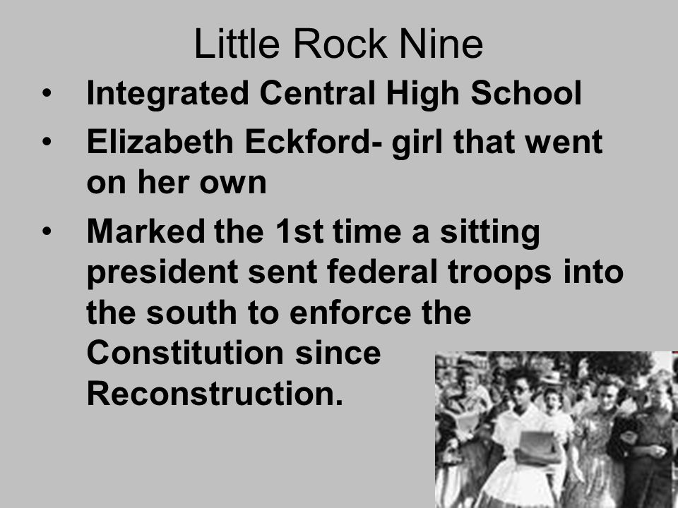 Little Rock Nine Integrated Central High School