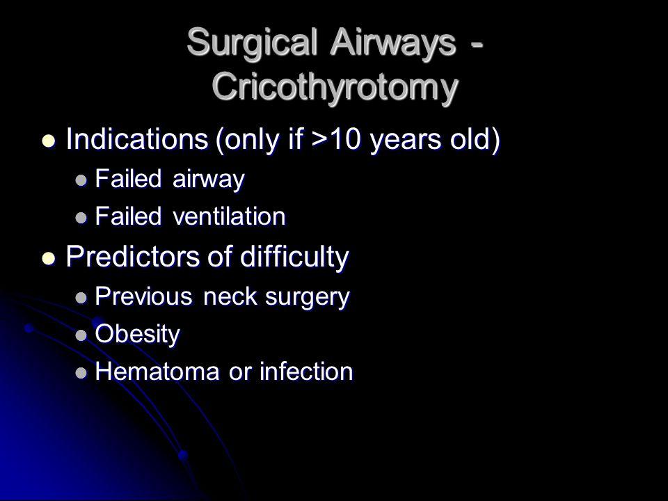 Surgical Airways - Cricothyrotomy