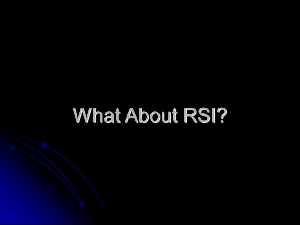 What About RSI