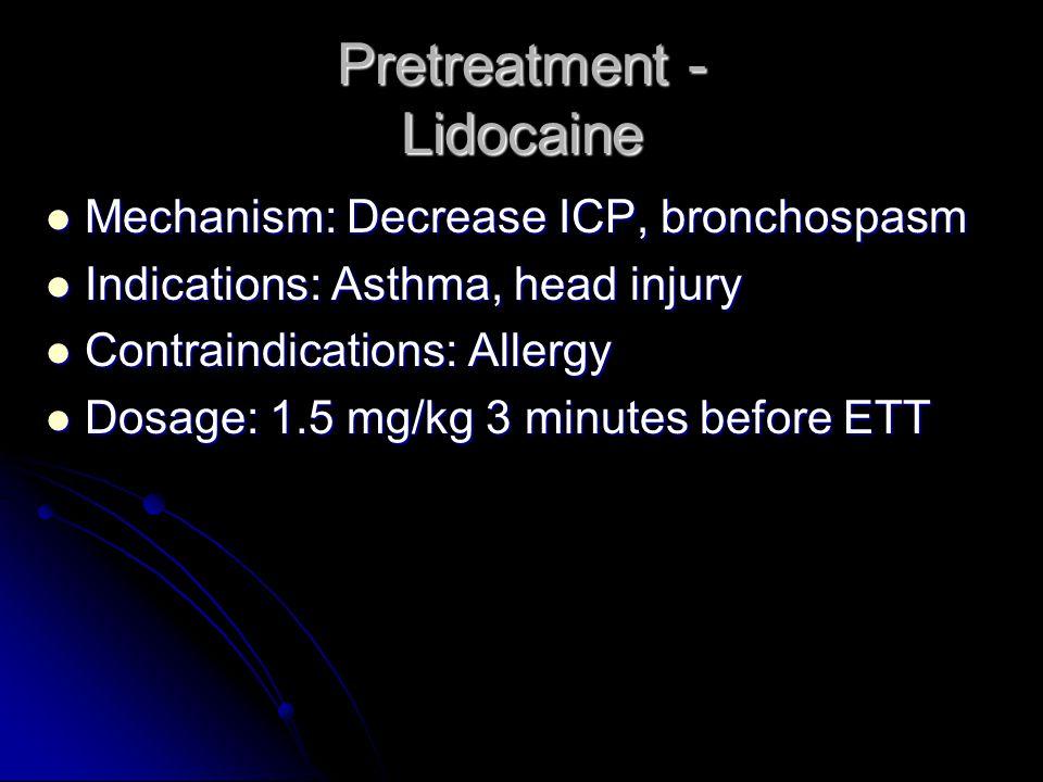 Pretreatment - Lidocaine