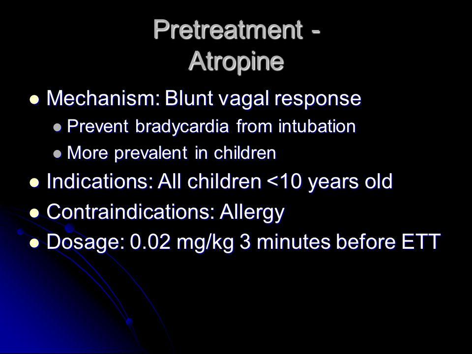 Pretreatment - Atropine