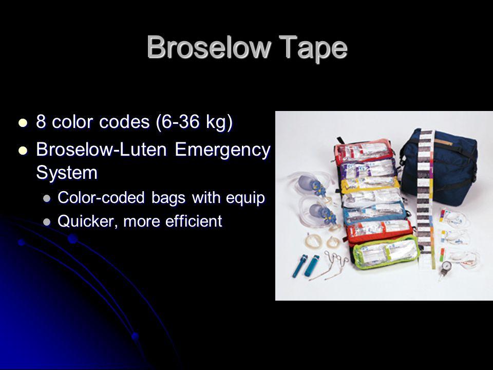 Broselow Tape 8 color codes (6-36 kg) Broselow-Luten Emergency System
