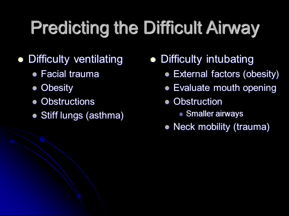 Predicting the Difficult Airway
