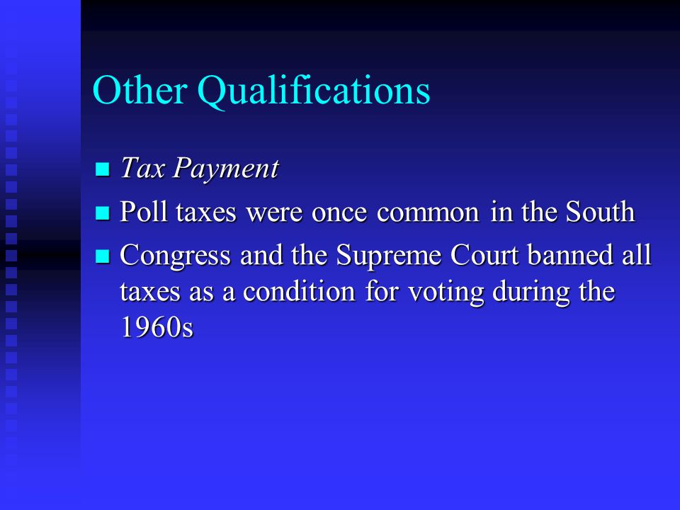 Other Qualifications Tax Payment