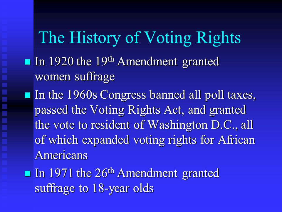The History of Voting Rights