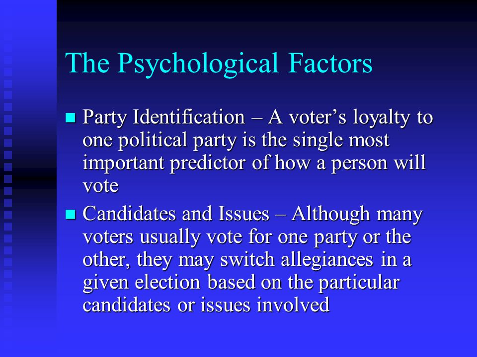 The Psychological Factors