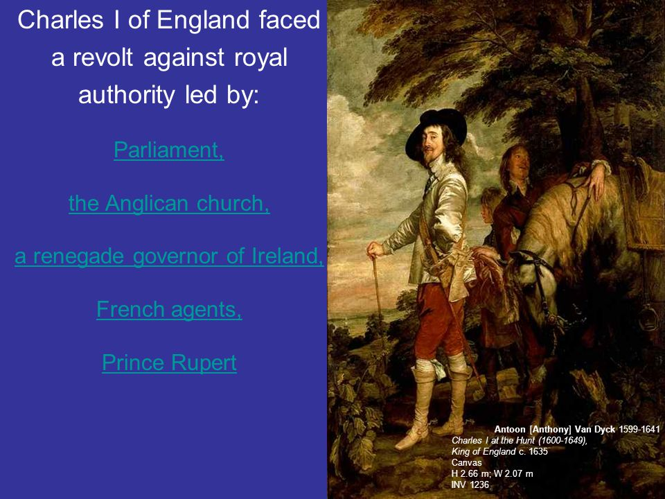 Charles I of England faced a revolt against royal authority led by: