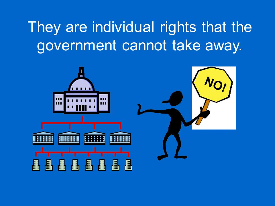 They are individual rights that the government cannot take away.