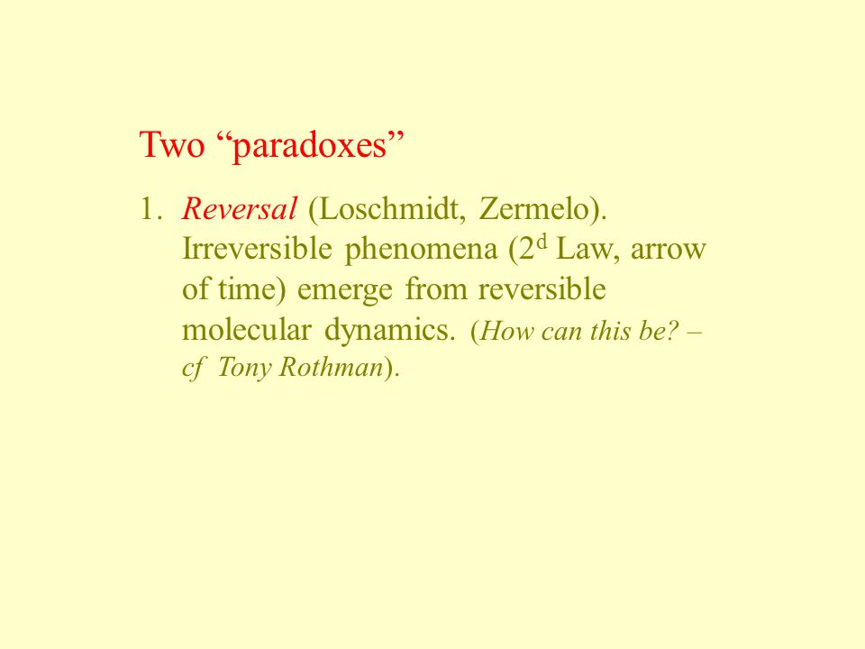 Two paradoxes