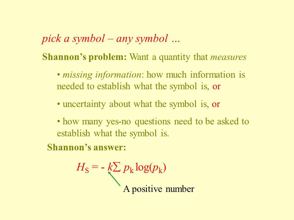 pick a symbol – any symbol …