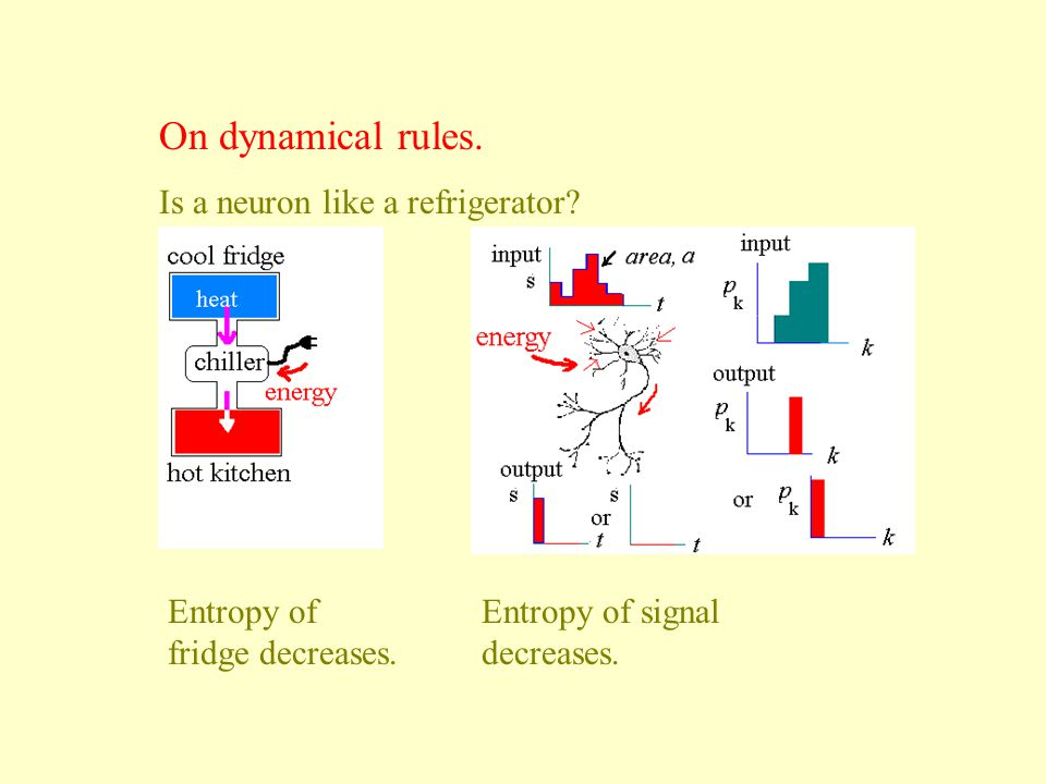 On dynamical rules. Is a neuron like a refrigerator