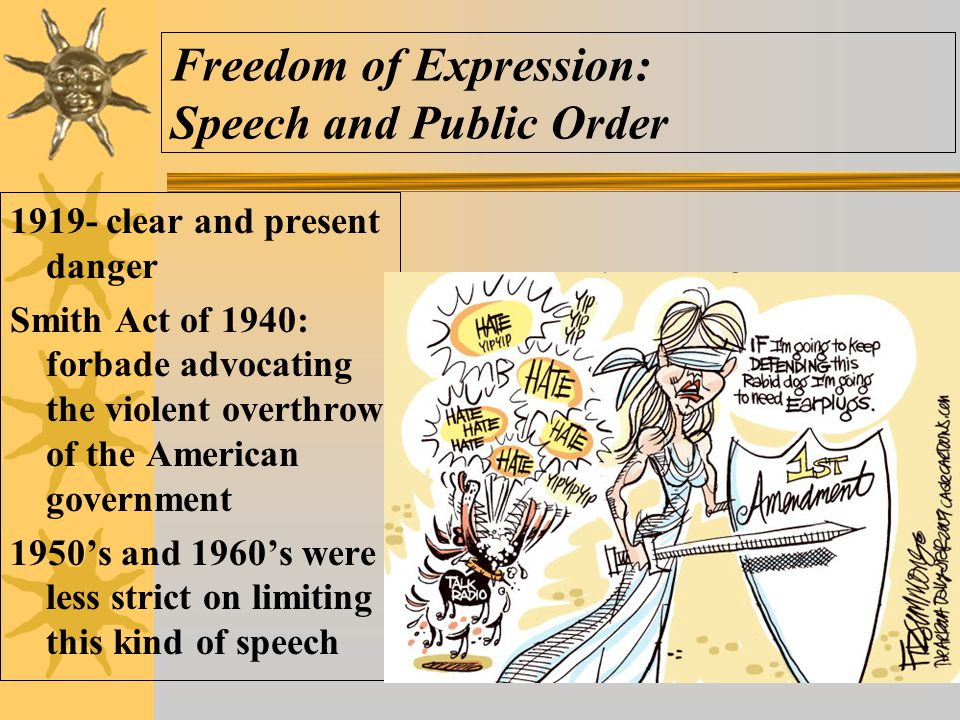Freedom of Expression: Speech and Public Order