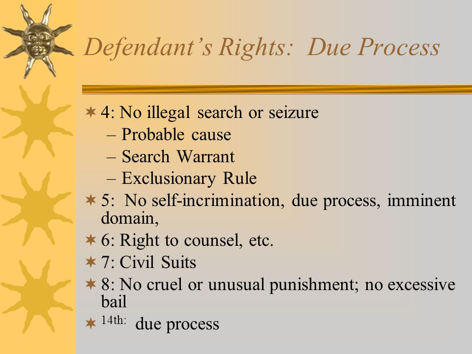 Defendant's Rights: Due Process