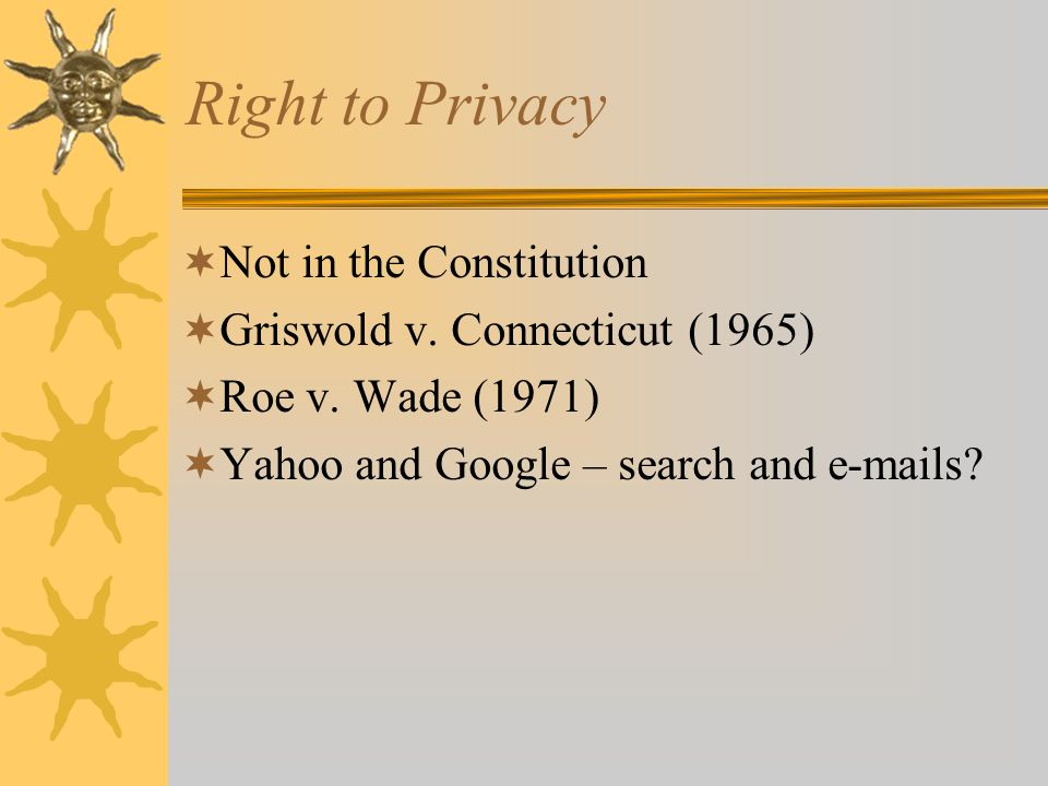 Right to Privacy Not in the Constitution