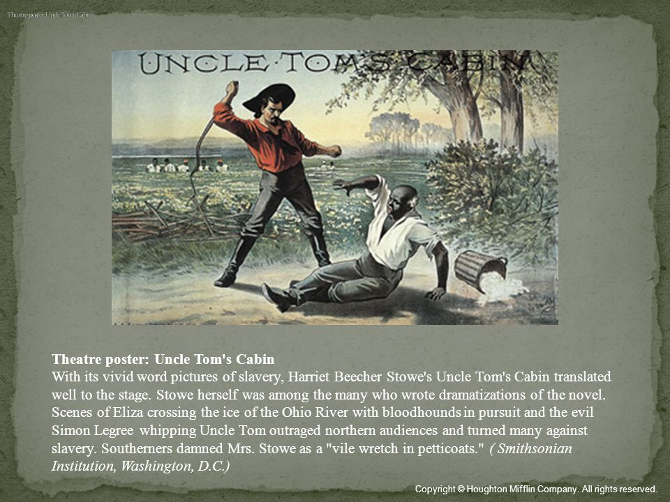 Theatre poster: Uncle Tom s Cabin