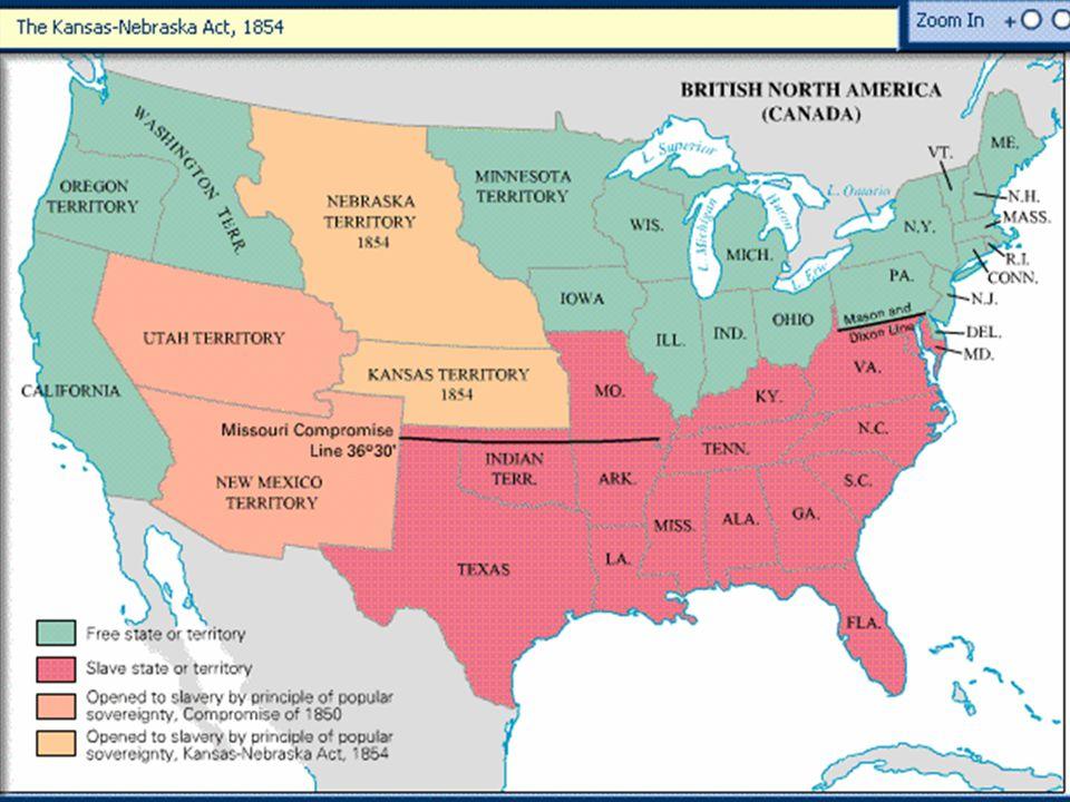 Map: The Kansas-Nebraska Act, 1854