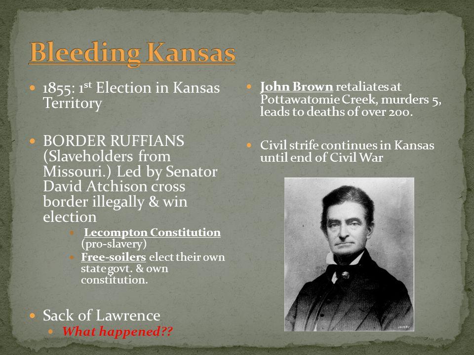 Bleeding Kansas 1855: 1st Election in Kansas Territory