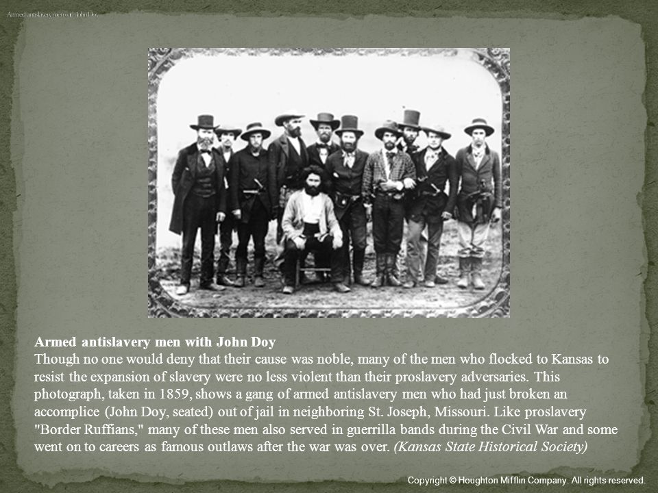 Armed antislavery men with John Doy