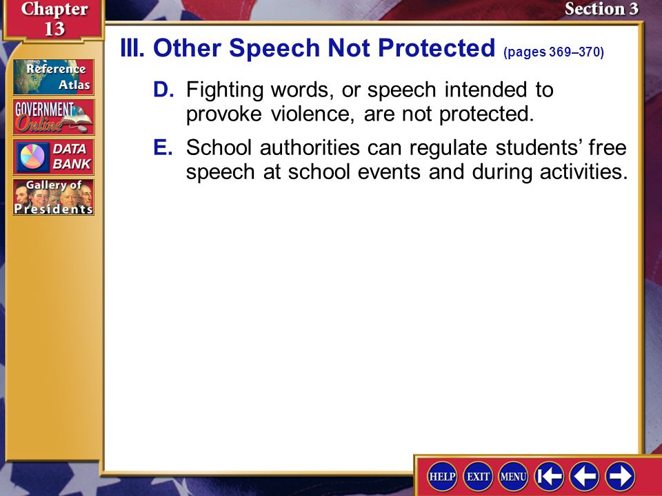 III. Other Speech Not Protected (pages 369–370)