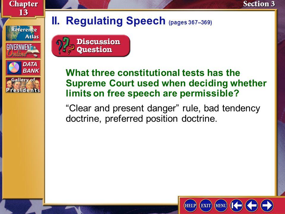 II. Regulating Speech (pages 367–369)