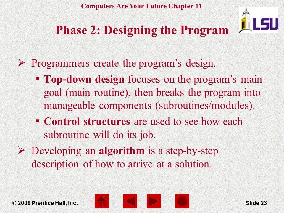 Phase 2: Designing the Program