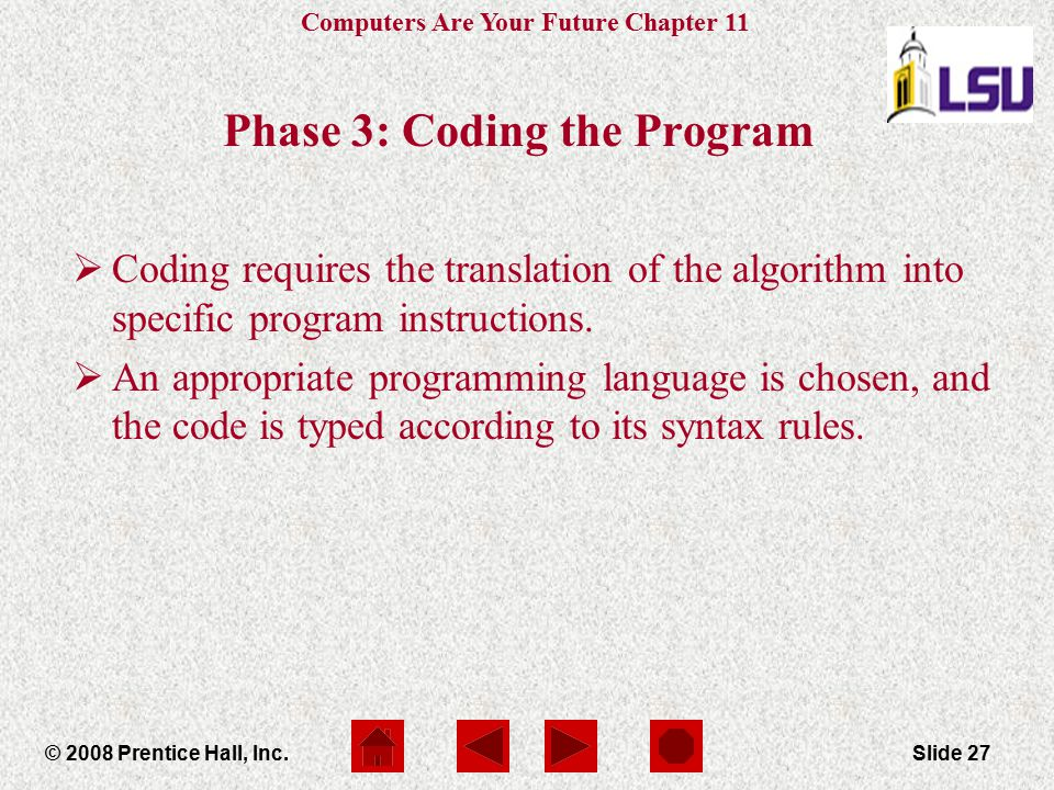 Phase 3: Coding the Program