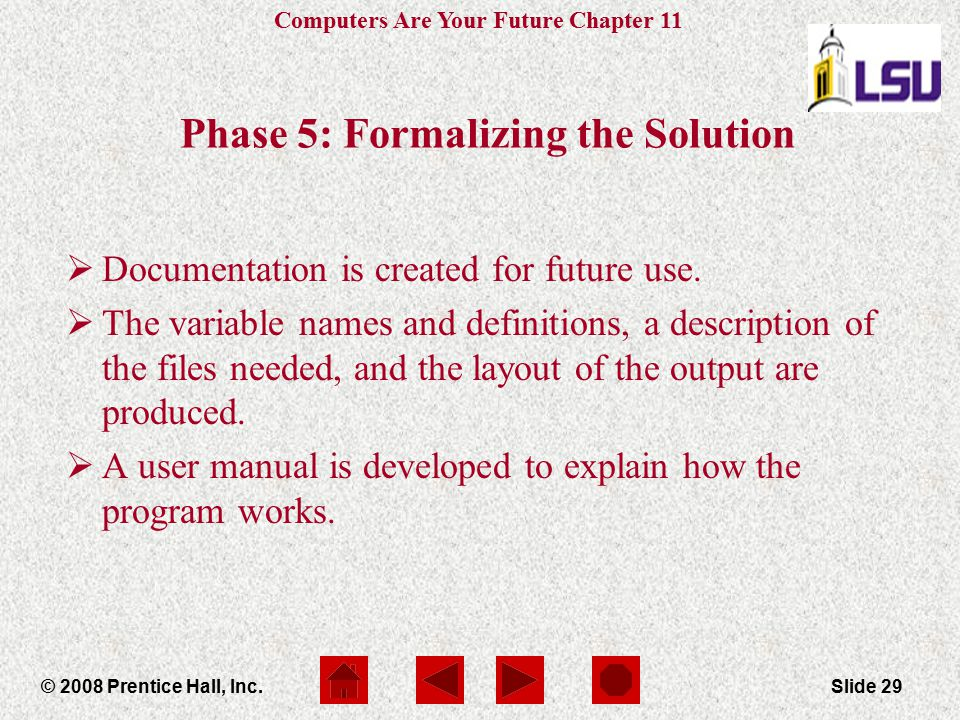 Phase 5: Formalizing the Solution