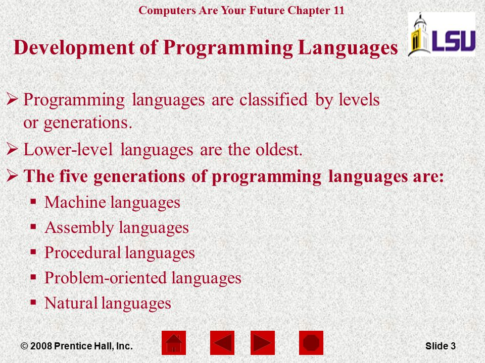 Development of Programming Languages