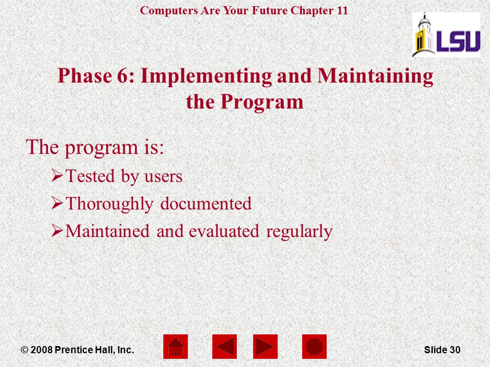 Phase 6: Implementing and Maintaining the Program