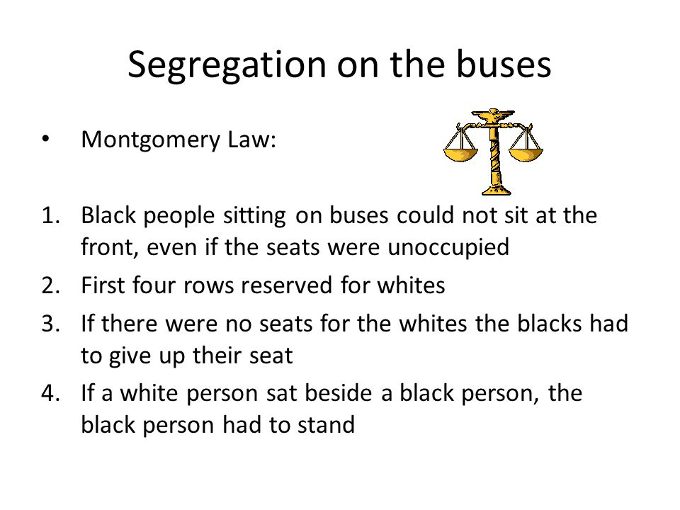 Segregation on the buses