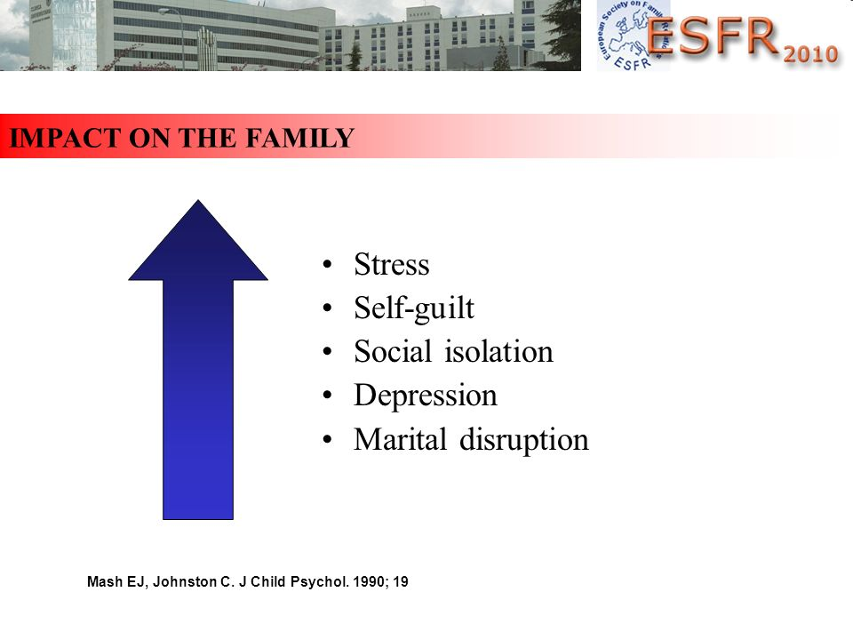 Stress Self-guilt Social isolation Depression Marital disruption