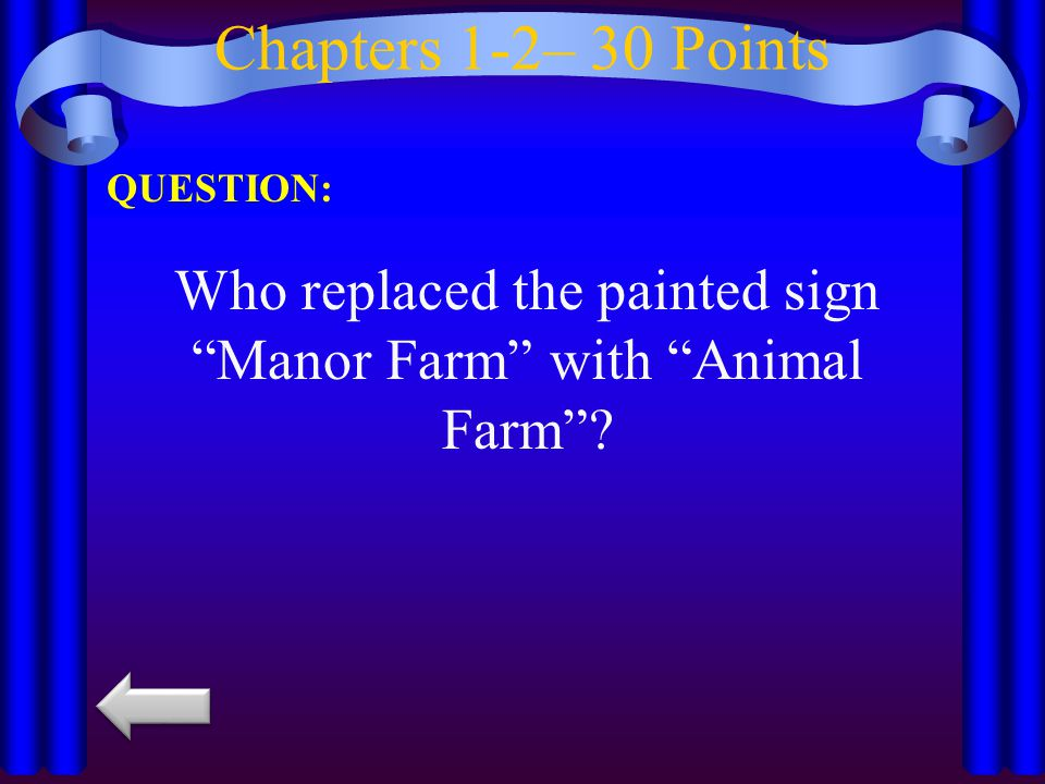 Who replaced the painted sign Manor Farm with Animal Farm