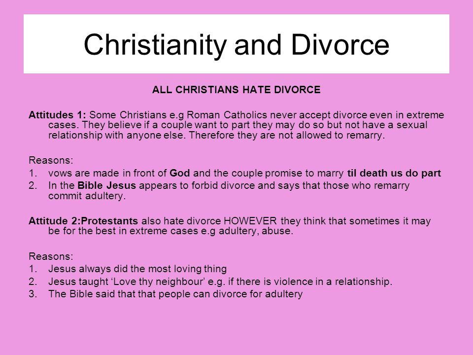 Christianity and Divorce
