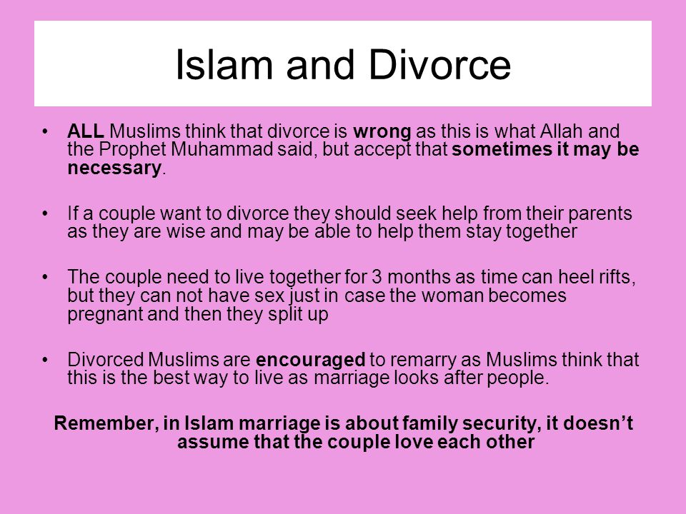 Islam and Divorce