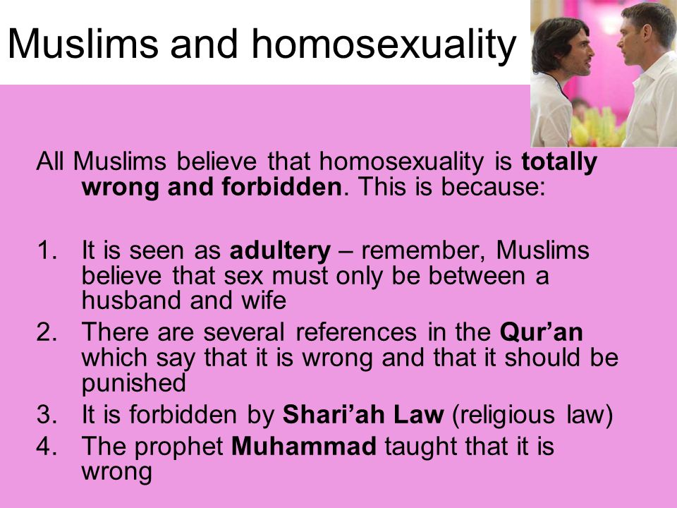 Muslims and homosexuality