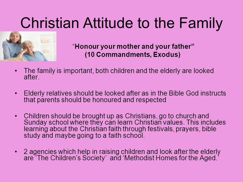Christian Attitude to the Family