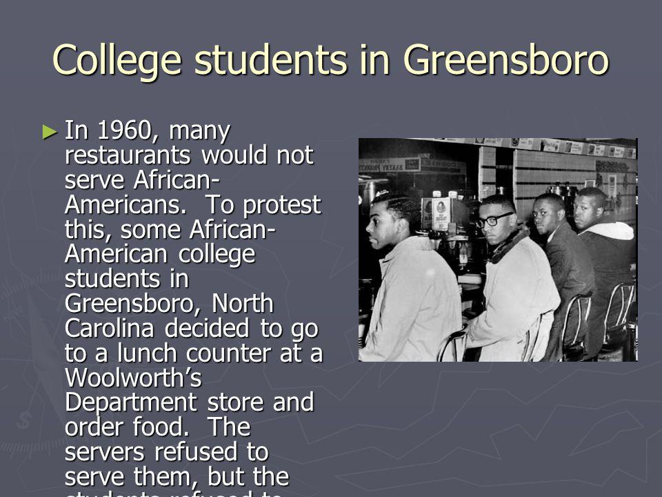College students in Greensboro