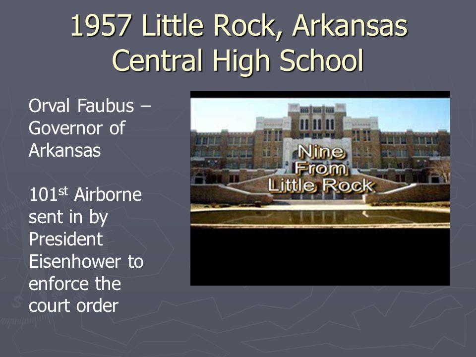1957 Little Rock, Arkansas Central High School