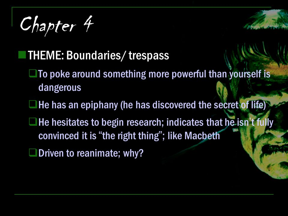 Chapter 4 THEME: Boundaries/ trespass