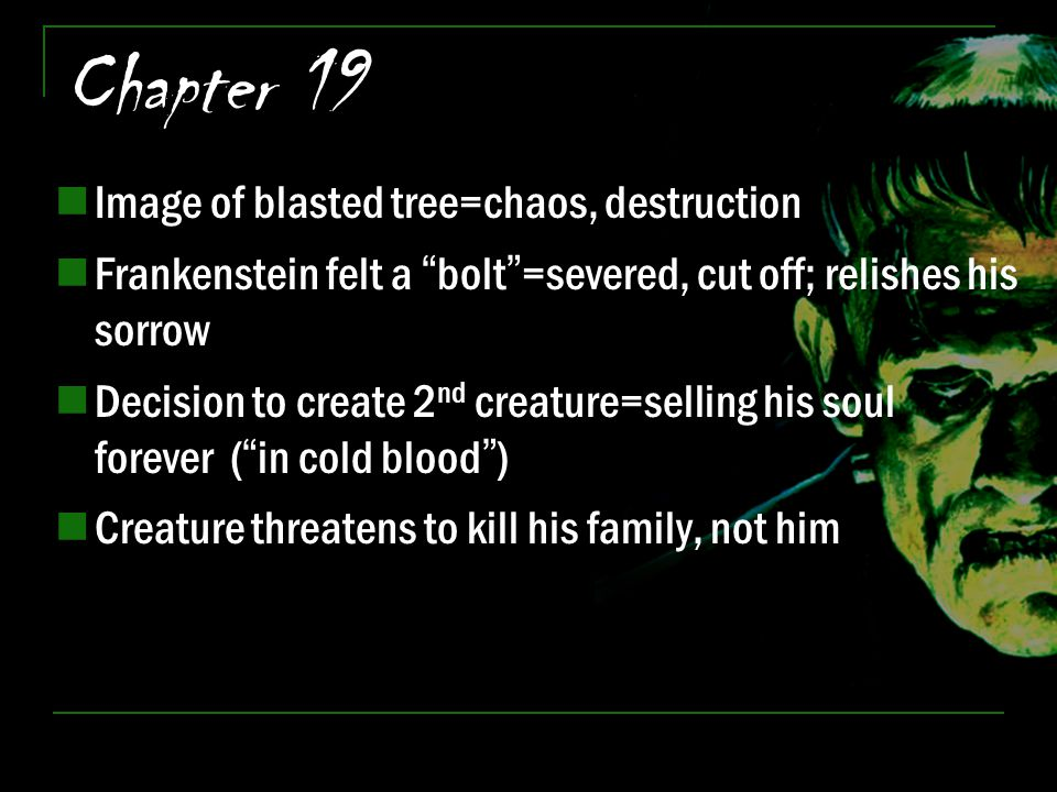 Chapter 19 Image of blasted tree=chaos, destruction